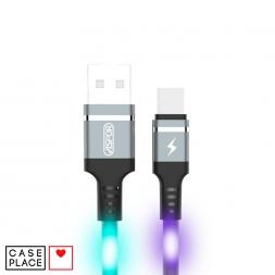 Светящийся кабель USB Type-C цветной