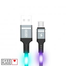 Светящийся кабель USB micro-USB цветной